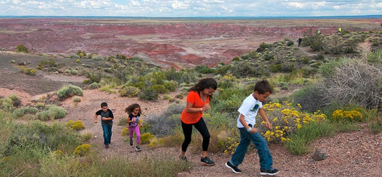 Kids on Painted Desert Trail | NPS Photo