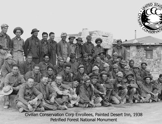 Civilian Conservation Corp, Painted Desert Inn, 1938, Petrified Forest National Monument