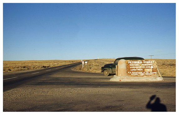 Entrance road into park from Route 66 | Photo courtesy of Petrified Forest National Park