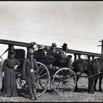 Historic railroad siding at Adamana