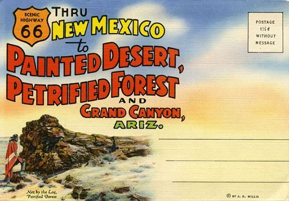 Old Route 66 Postcard | Courtesy of Petrified Forest National Park