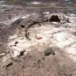 Sivu'ovi: a pithouse eroding out of the Sivu'ovi site on the south end of the park | Photo courtesy of Petrified Forest National Park
