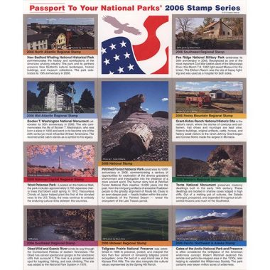 2006 Passport Stamp Set including Petrified Forest National Park