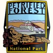Petrified Forest National Park Hiking Medallion - Blue Dawn