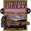 Petrified Forest National Park Hiking Medallion - Sunset