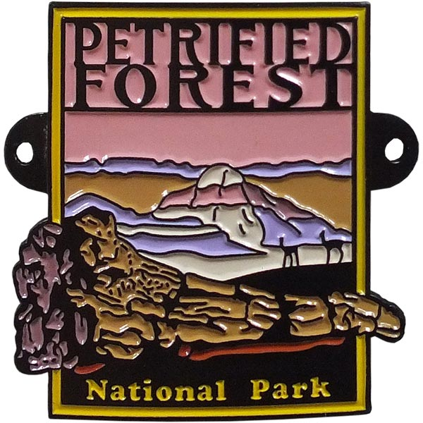 Petrified Forest National Park Hiking Medallion - Sunset