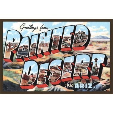 Vintage-Style Painted Desert Quilt Block