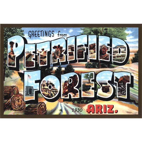 Vintage-Style Petrified Forest Quilt Block