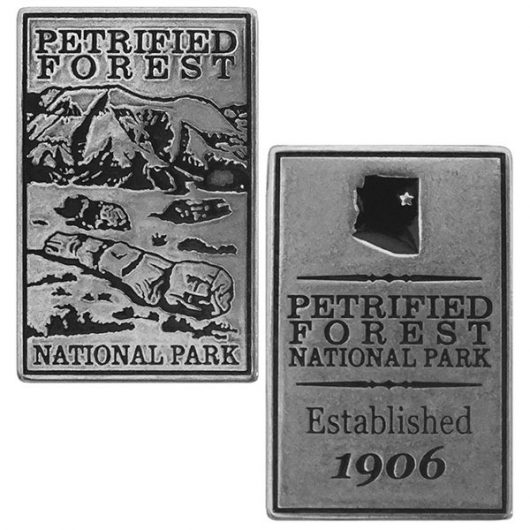 Petrified Forest National Park Token - Front and Back View