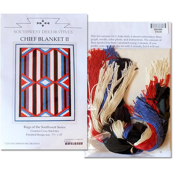 Chief Blanket Ii Counted Cross Stitch Kit Rugs Of The