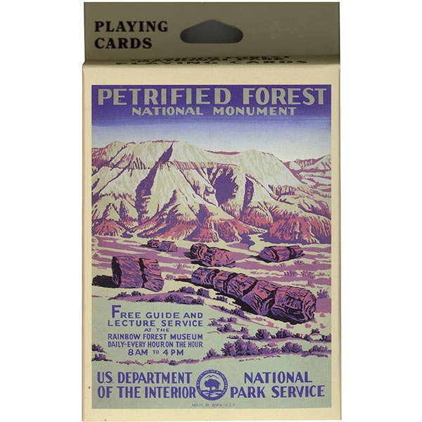 WPA Petrified Forest NM Playing Cards