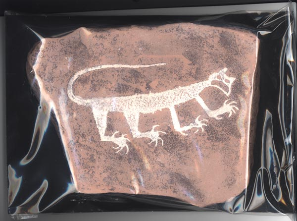 Mountain Lion Petroglyph Reproduction