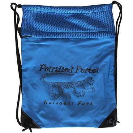Mountain Lion Petroglyph Cinch Bag in Blue