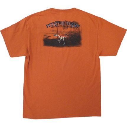 Coelophysis T-Shirt - Orange / Back View