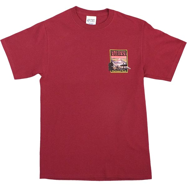 Petrified Forest T-Shirt in Maroon