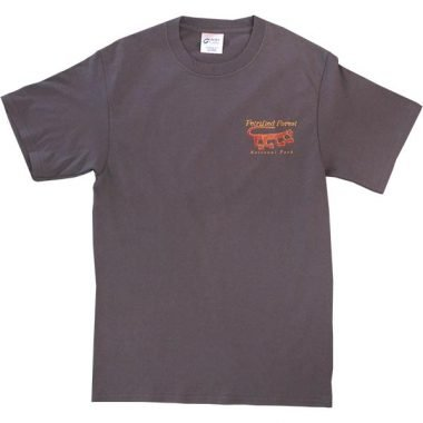 Mountain Lion Petroglyph T-Shirt in Charcoal Gray