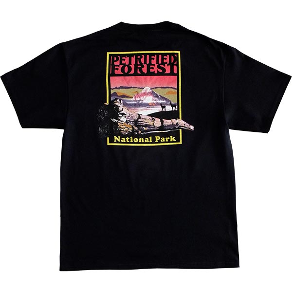 Petrified Forest T-Shirt in Black - Back View