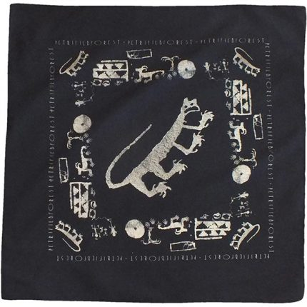 Petroglyph Bandana in Black