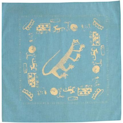 Petroglyph Bandana in Light Blue