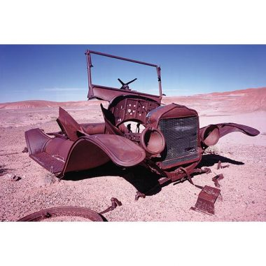 Painted Desert Rusty Car Postcard