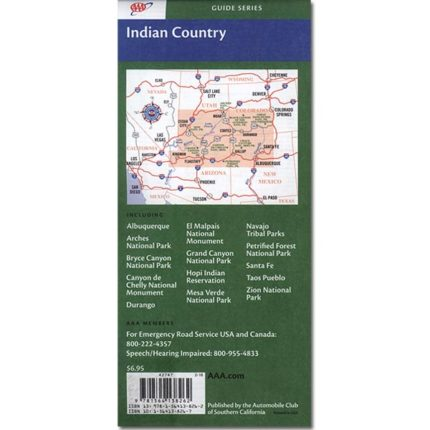 AAA Indian Country Map (back)