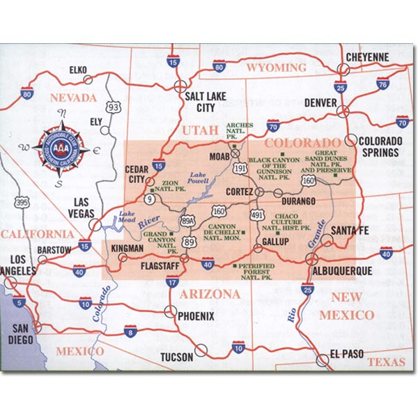 Map Of Arizona Indian Tribes.Aaa Indian Country Map Pfma