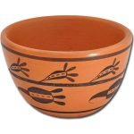 Miniature Hopi Pot - Ancestral Flourishing Seed Pod Design