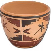 Miniature Hopi Pot - Dragonfly Design