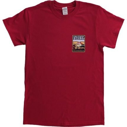 Field Institute T-Shirt - Dark Red (Front)