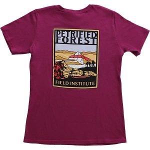 Ladies Field Institute T-Shirt - Dark Fuchsia (Back)