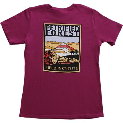 Ladies Field Institute T-Shirt - Dark Fuchsia (Back)