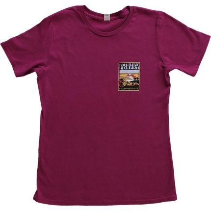 Ladies Field Institute T-Shirt - Dark Fuchsia (Front)