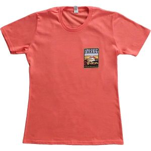 Ladies Field Institute T-Shirt - Salmon (Front)