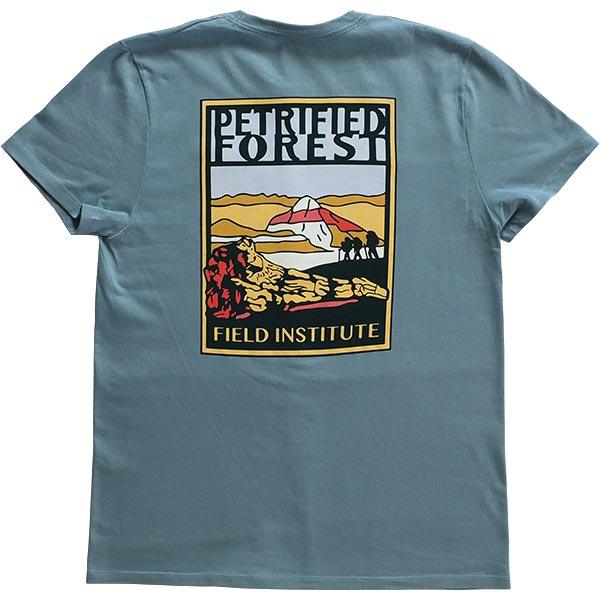 Ladies Field Institute T-Shirt - Steel Blue (Back)