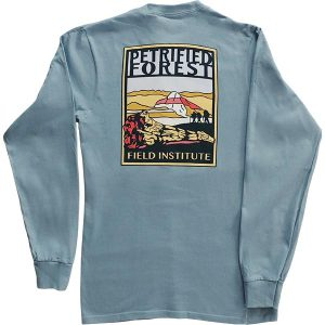 Petrified Forest Field Institute Long Sleeve T-Shirt – Back View Steel Blue