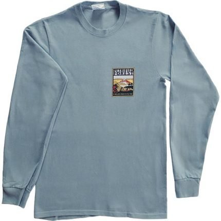 Petrified Forest Field Institute Long Sleeve T-Shirt – Front View Steel Blue