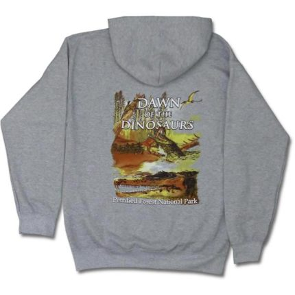 Dawn of the Dinosaurs Hoodie Sweatshirt - Back View