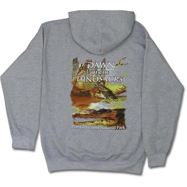 Dawn of the Dinosaurs Hoodie Sweatshirt - Back View