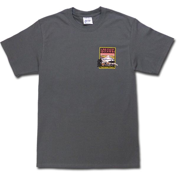 Petrified Forest Logo T-Shirt in Charcoal