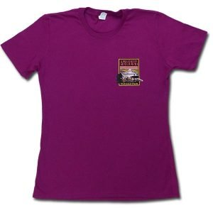 Ladies Cut Petrified Forest T-Shirt in Raspberry