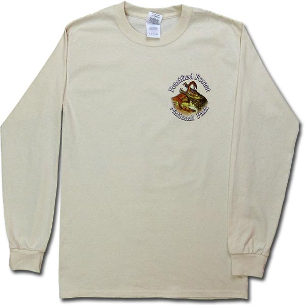 Long Sleeve Dawn of the Dinosaurs T-Shirt - Cream