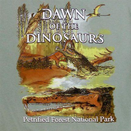 Long Sleeve Dawn of the Dinosaurs T-Shirt - Back Logo Close up