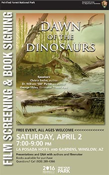 Dawn of the Dinosaurs Book Signing Event Poster