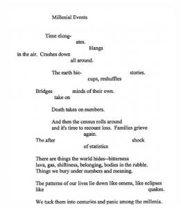 """Millennial Events"" by Cezanne Waid"