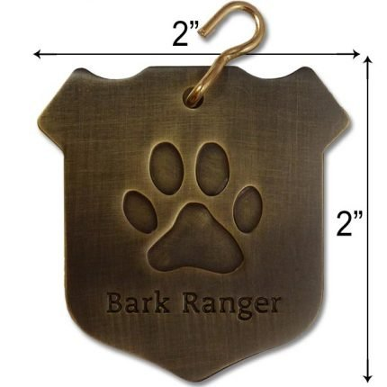 """Bark Ranger"" Dog Collar Tag"