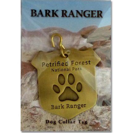 "Petrified Forest ""Bark Ranger"" Dog Collar Tag"