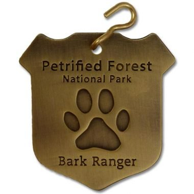 "Petrified Forest ""Bark Ranger"" Dog Collar Tag"