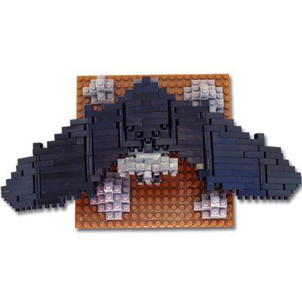 Bat Mini Building Blocks - Top View