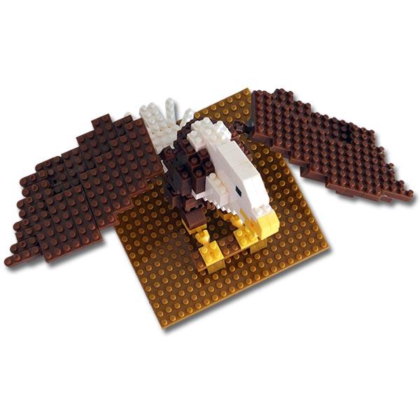 Bald Eagle Mini Building Blocks - Top View