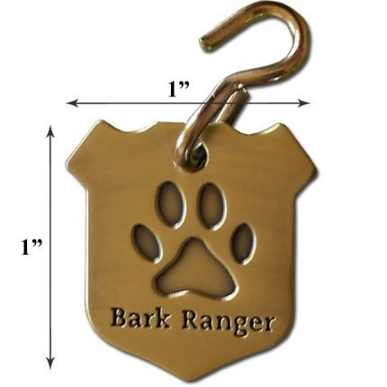 "Small ""Bark Ranger"" Dog Collar Tag"